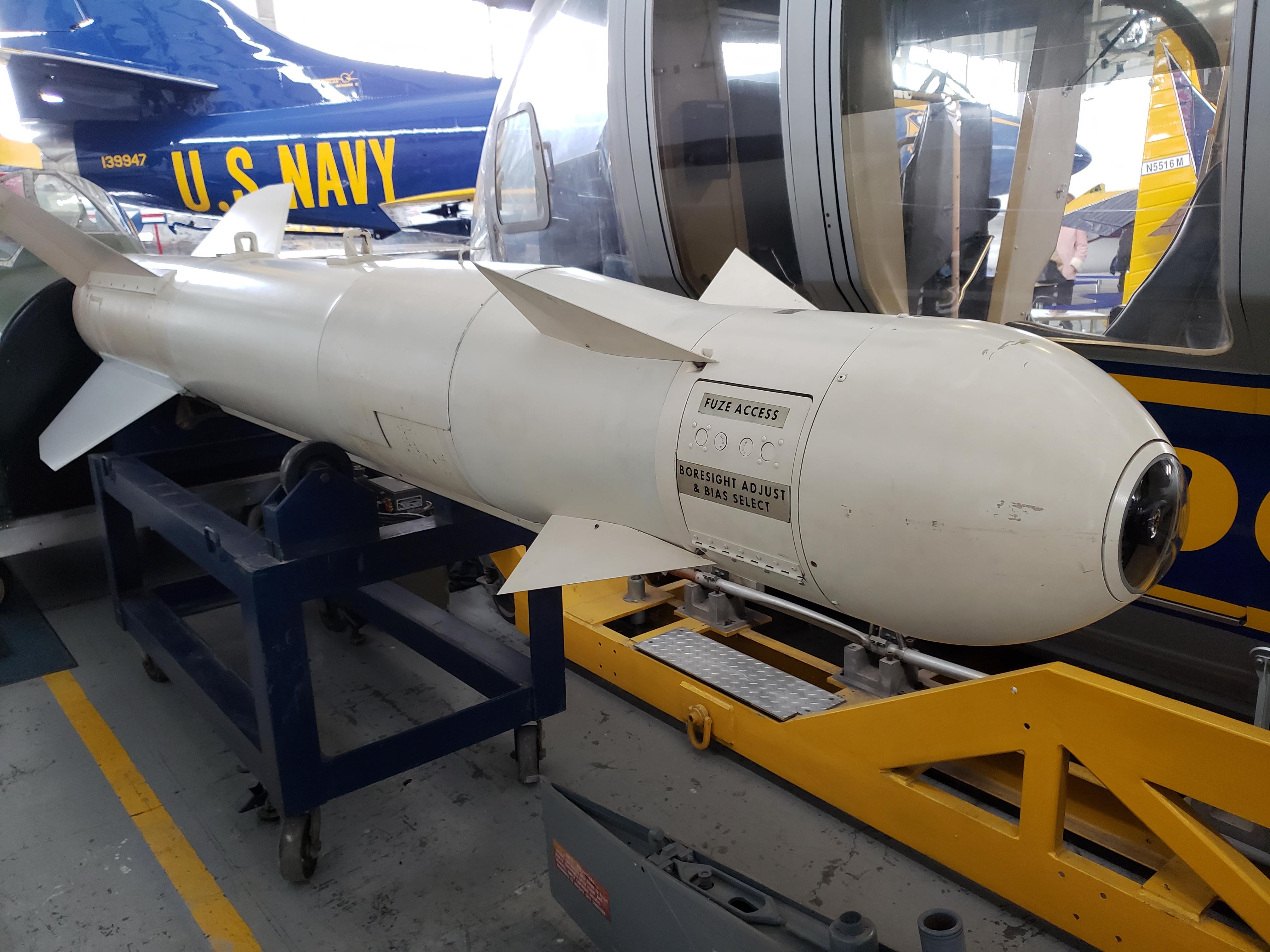 U.S. MK-82 Low Drag General Purpose 500 lb. Bomb w/ air inflatable retarder