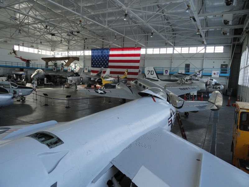 Other aircraft in the MAPS Air Museum hanger are F-11 Tiger in the and the Beechcraft SNB-5 Expeditor and S-2F Tracker on the right.
