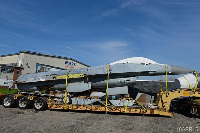F-16 Trailered