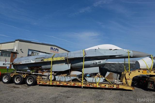 F-16 Trailered