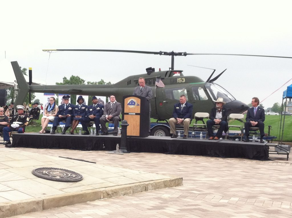 Col. Reed Kimball speaks at the Memorial Day Ceremony for The Ohio Western Reserve National Cemetery