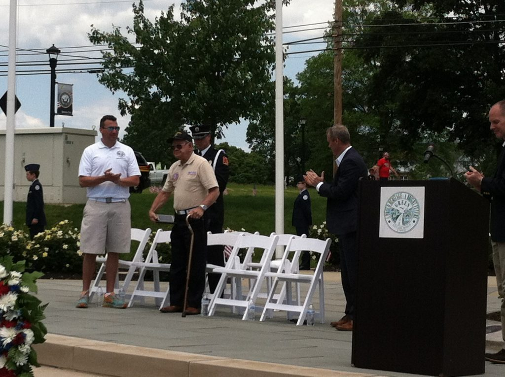 Jim Mosley honored at The City of Green's 2017 Memorial Day Ceremony