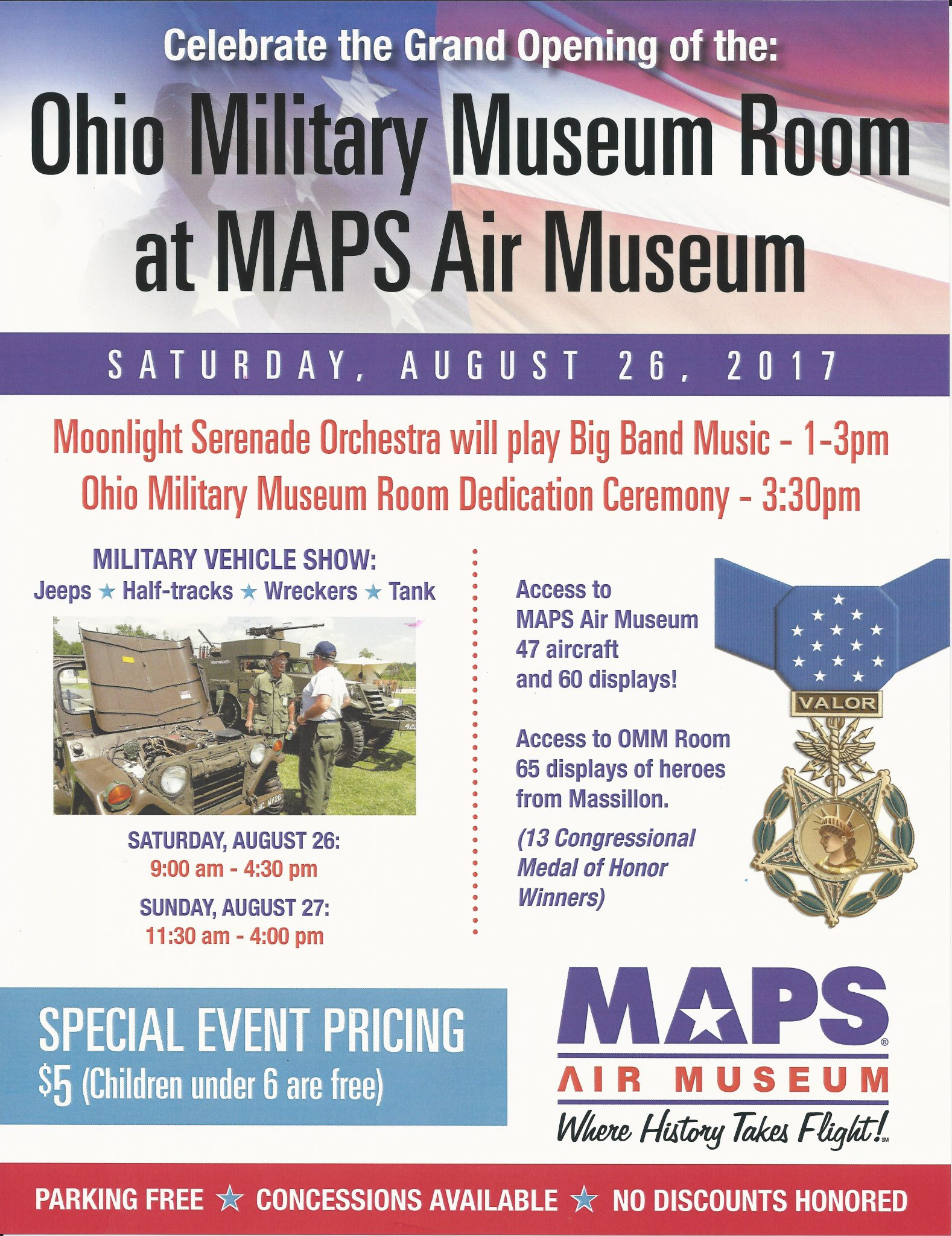 Maps Air Museum Will Host A Very Special Event In Honor Of The Grand Opening Of The Ohio Military Museum Room The Room Is Located On The Second Floor Of