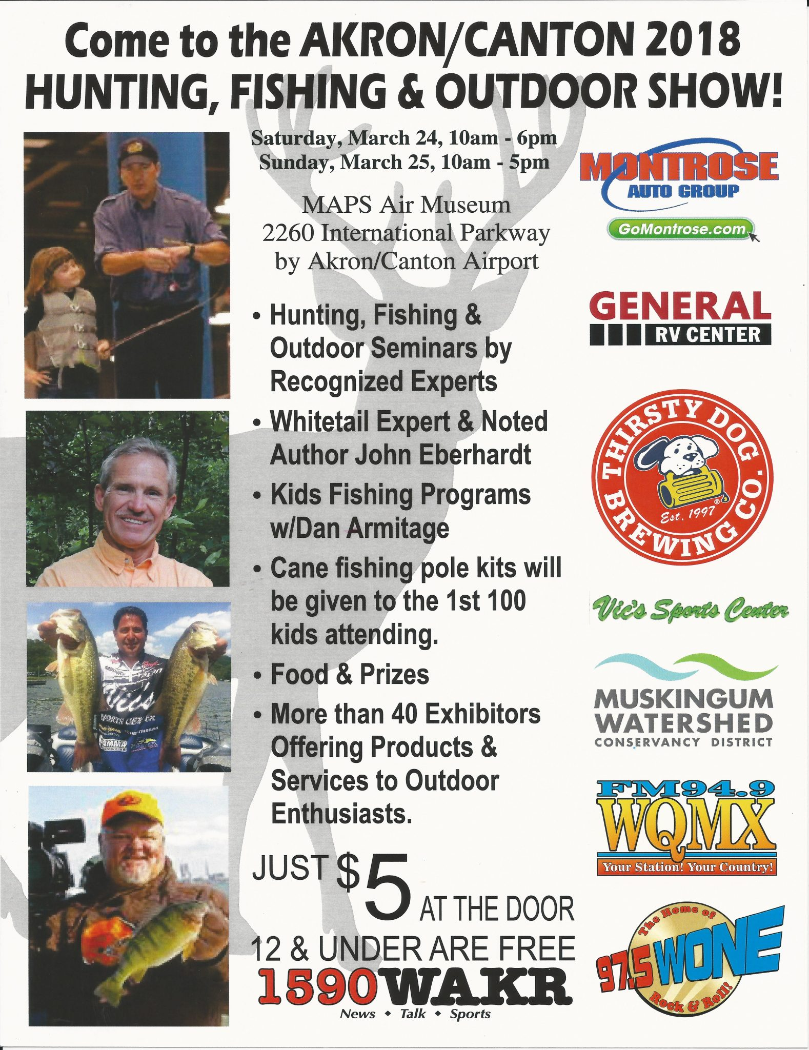 Wone 97 5 fm wqmx 94 9 fm and wakr 1590 presents 2018 for Hunting and fishing show