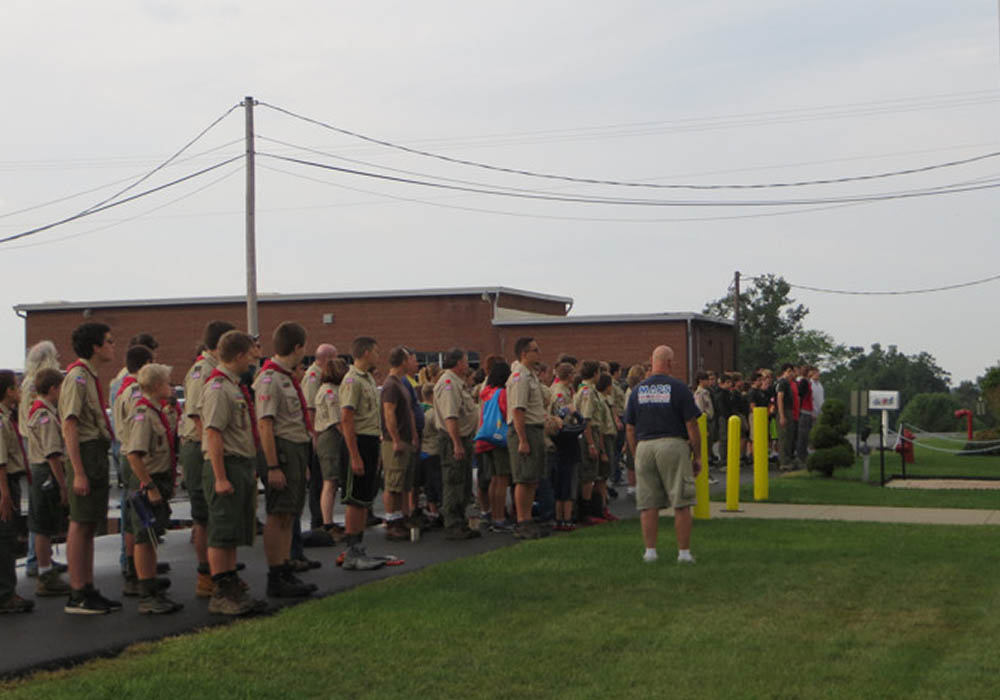 Boy Scouts gather for instruction