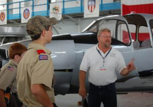 Boy Scouts receive a guided tour