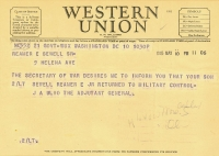 Sewell Liberated telegram