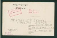 Sewell POW postcard back